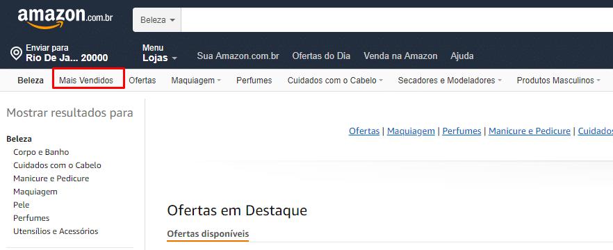 Amazon - Mais Vendidos