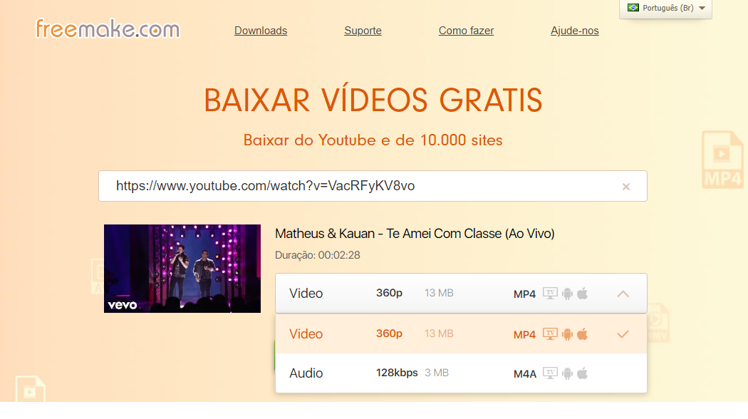 Como Baixar Video Do Youtube no Freemake.com